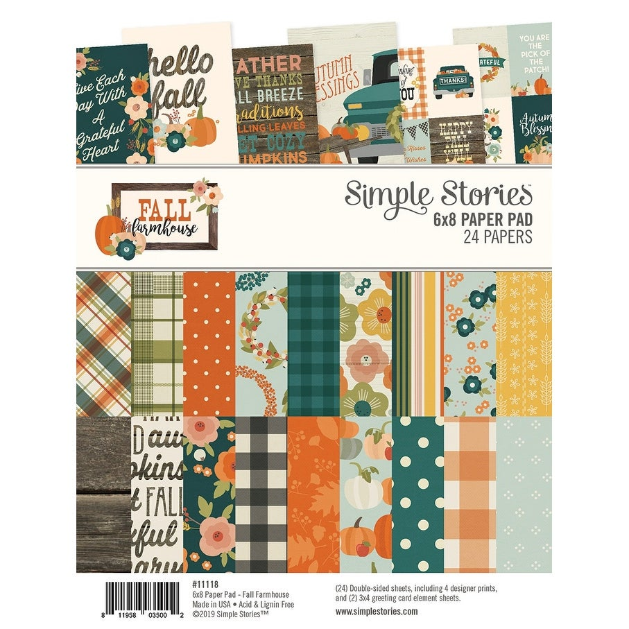 Simple Stories Collection Kit 12X12-Fall Farmhouse