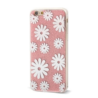 Flower Pattern Back Protective Phone Hard Case Cover Pink for iPhone 6 4.7inch