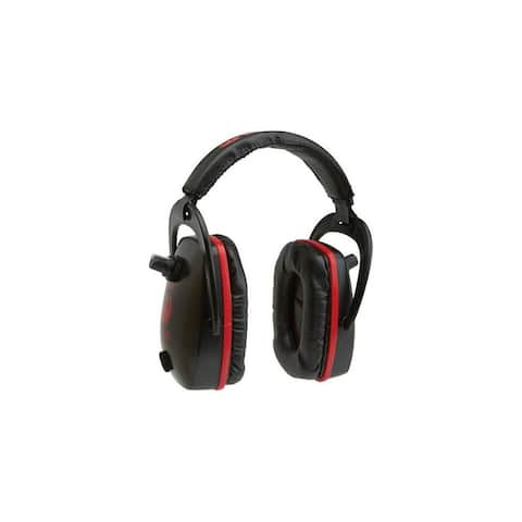 Ruger Shooting Earmuffs Conix Electronic Padded Black Red - Black Red