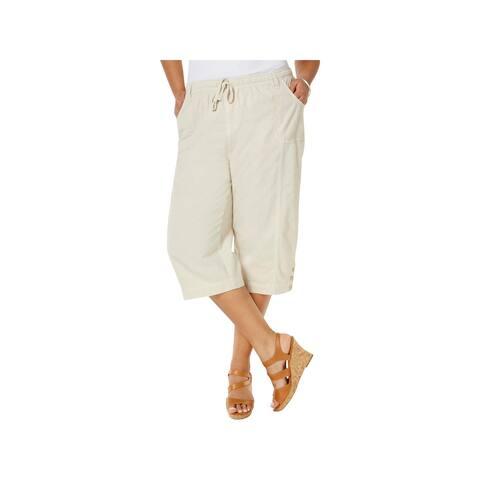 Karen Scott Womens Plus Capri Pants Cotton Crop