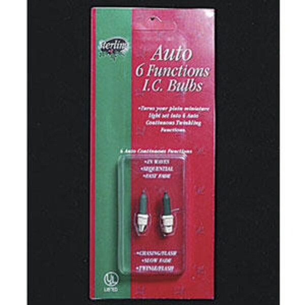 Pack of 2 Multi Function Continuous Action IC Mini Replacement Bulbs - green