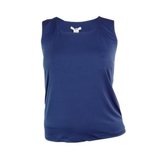 Bar III Women's Core Round Neck Jersey Blouse - MEDIUM