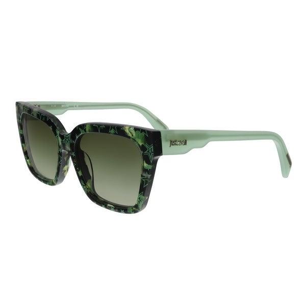 2f633e12d7 Shop Just Cavalli JC784S 55P Green Havana Square Sunglasses - no ...