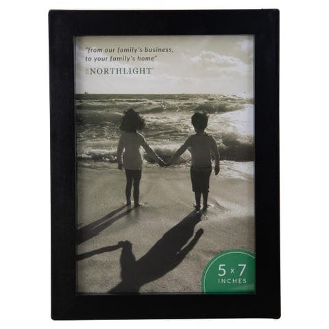 "8.25"" Classical Rectangular 5"" x 7"" Photo Picture Frame with Easel Back - Matte Black - 5-inchx7-inch"