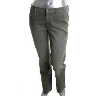 LRL Lauren Jeans Co. Womens Colored Denim Straight Leg Jeans - 14