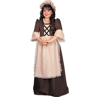 Rubies Colonial Girl Deluxe Child Costume - Brown