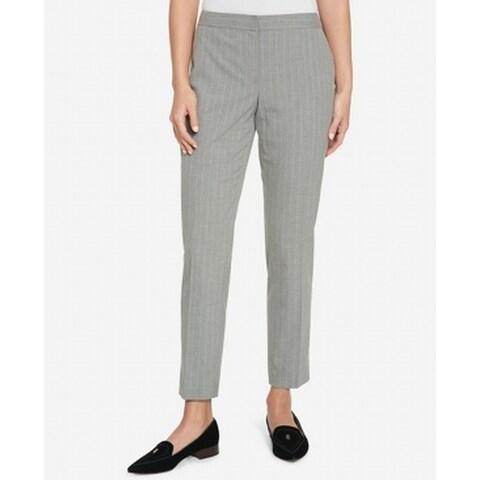 Tommy Hilfiger Womens Princeton Slim Ankle Dress Pants