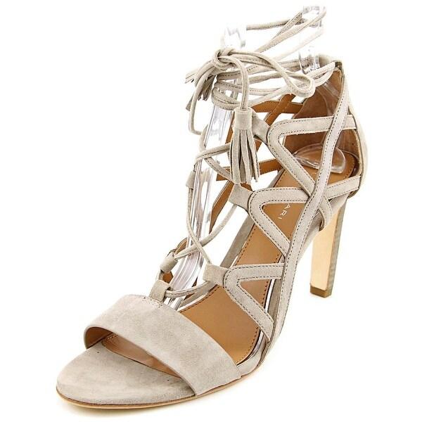 Elie Tahari Hurricane Women Open Toe Suede Gray Sandals