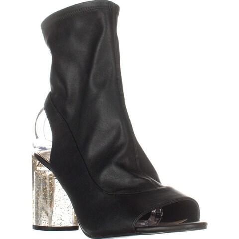 BCBGeneration Desire Glitter Heel Boots, Black