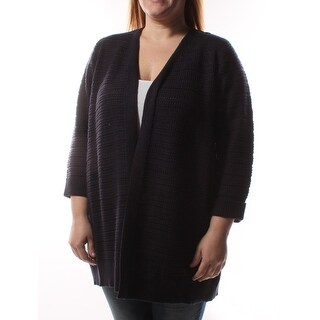 CHARTER CLUB Navy Open Cardigan 3/4 Sleeve Sweater Plus XL B+B