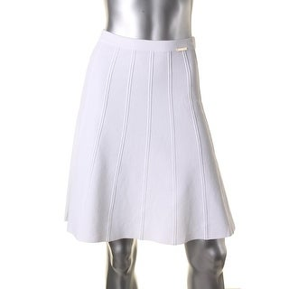 Michael Kors Womens Michael Michael Kors A-Line Skirt Pull On Sweater Skirt