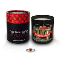 Strawberries and Champagne Jewelry Candle, Ring Size 6