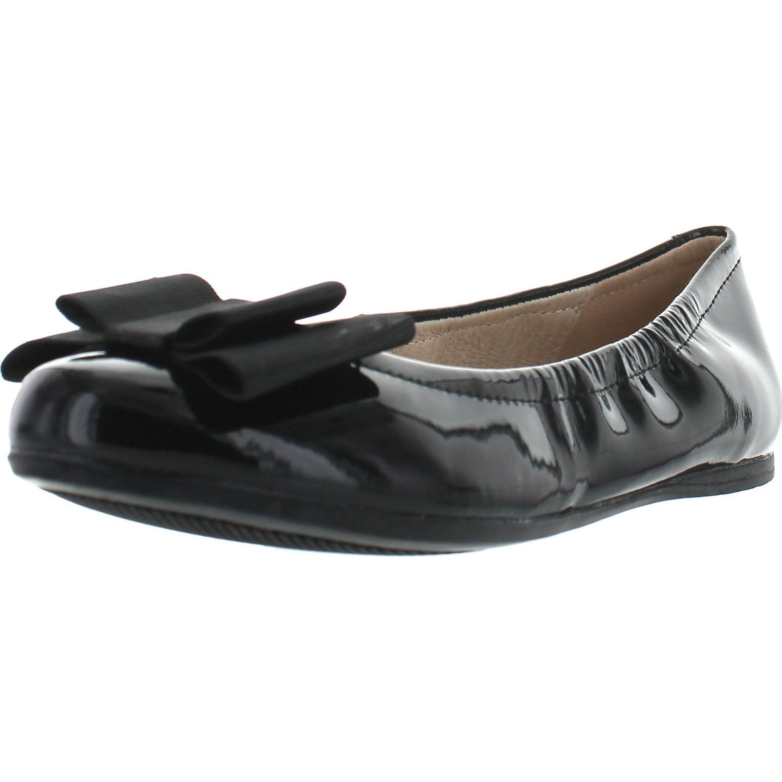 Venettini Girls 55-Jenifer Leather Dress Flats With Bow