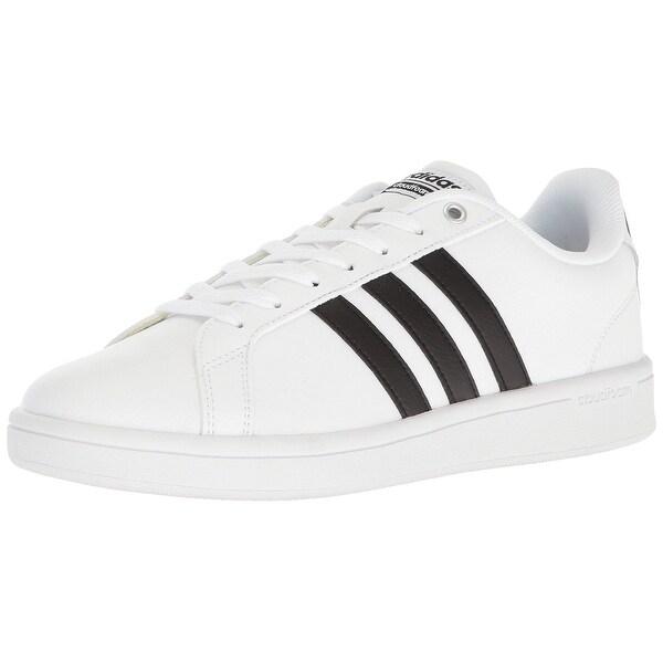 Adidas Men's Cloudfoam Advantage Sneakers, Black/White