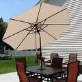 Sunnydaze Aluminum 9 Foot Solar Patio Umbrella with Tilt & Crank - Thumbnail 23