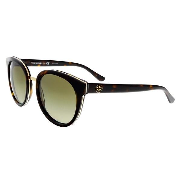 28a559a3655f Shop Tory Burch TY7062 51013 Tortoise Cateye Sunglasses - 53-18-140 ...
