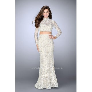 Long-Sleeved Lace Two-Piece