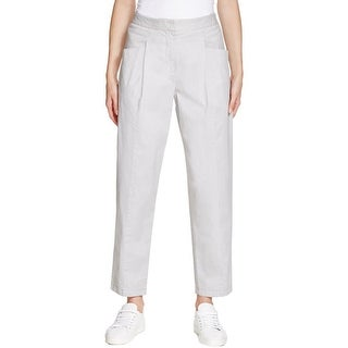 Pure DKNY Womens Casual Pants Ankle Pants Pleated