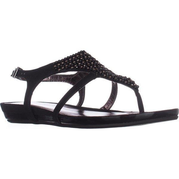 Kenneth Cole REACTION Lost the Way Flat Sandals, Black