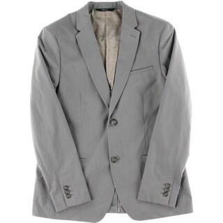 Perry Ellis Mens Pattern Notch Lapel Two-Button Suit Jacket