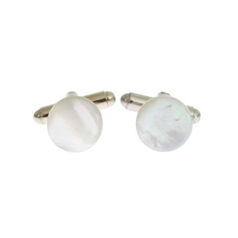 Dolce & Gabbana Silver Brass Round Cufflinks