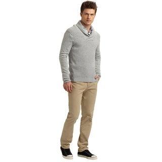 Michael Kors Mens Gray Shawl Sweater XX-Large 2XL XXL Gray Euro 56