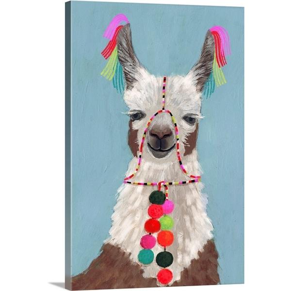 """""""Pom Pom Llama I"""" Canvas Wall Art"""