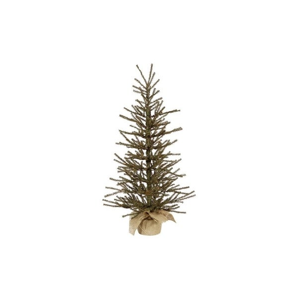 "18"" x 12"" Vienna Twig Artificial Christmas Tree in Burlap Base - Unlit"