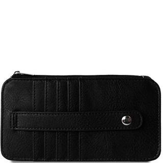 "Link to 6.5"" Black Rectangular Vegan Leather Credit Card Sleeve Wallet Similar Items in Gloves"