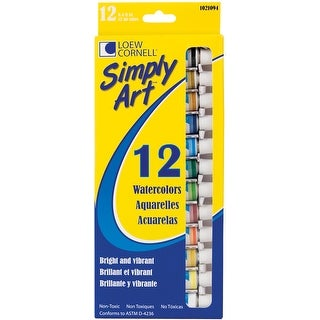Simply Art Watercolor Paints 12ml 12/Pkg-Assorted Colors