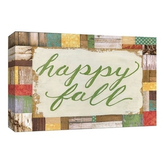 """PTM Images 9-148270  PTM Canvas Collection 8"""" x 10"""" - """"Happy Fall"""" Giclee Happy Art Print on Canvas"""