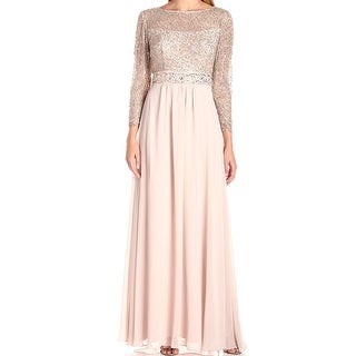 Decode 1.8 NEW Beige Womens Size 4 Sequined Illusion Sheath Dress