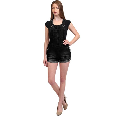 NE PEOPLE Womens Casual Vintage Shorts Denim Jumpsuits Overall