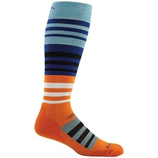 Darn Tough Mens Merino Wool Striped Crew Socks - M