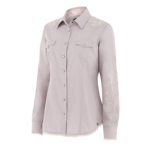 60ee2898 Shop Noble Outfitters Shirt Womens L/S Rock Roll Western Snap Frayed - Free  Shipping On Orders Over $45 - Overstock - 20753078