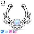 Non Piercing Lacey Single Opal Septum Hanger (Sold Ind.) - Thumbnail 0