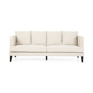 Link to Halburge Contemporary 3 Seater Fabric Sofa by Christopher Knight Home Similar Items in Sofas & Couches