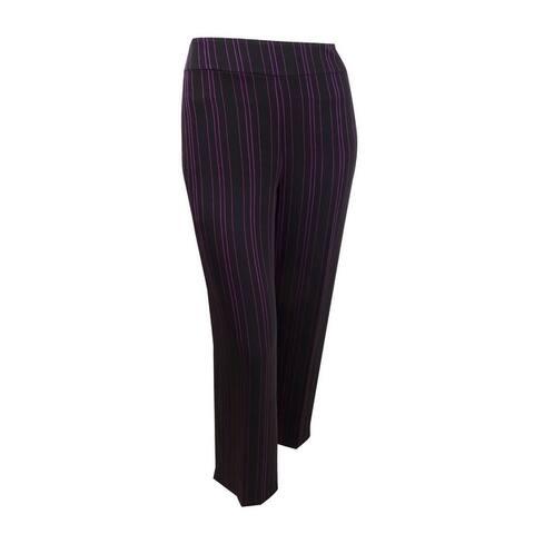 Bar III Women's Plus Striped Wide-Leg Pants