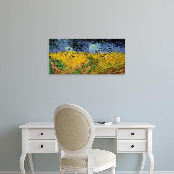 Easy Art Prints Vincent Van Gogh's 'Wheat Field with Crows (1890)' Premium Canvas Art