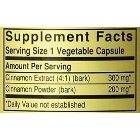 Solgar Fp Cinnamon Vegetable Capsules 100