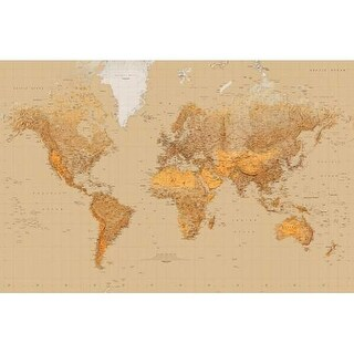 Brewster DM623 The World Wall Mural - the world