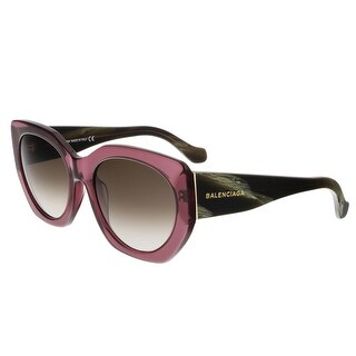 Balenciaga BA0017 81K Mauve Square Sunglasses - 57-20-140