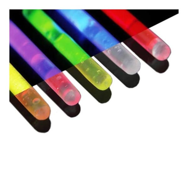Glowstick 5 Pieces Assorted Colors Per Pack (8 GA Fits Body Piercing Glow Ring Holders)