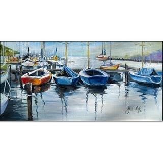 Carolines Treasures JMK1311HRM2858 Sailboats Waiting At The Dock Indoor & Outdoor Runner Mat 28 x 58 in.