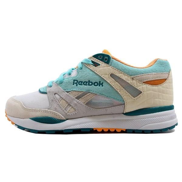 Reebok Men's Ventilator CNT Paper White/Crystal Blue Packer Shoes M48576 Size 7