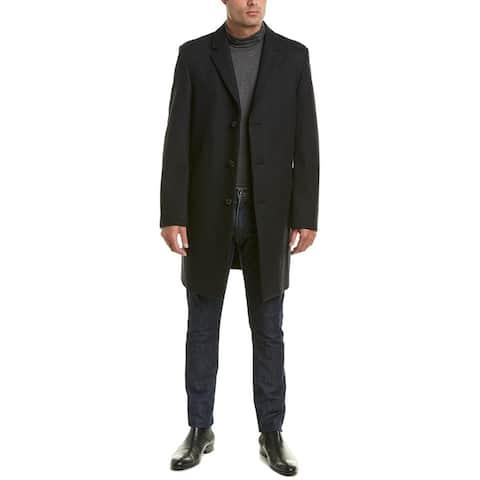 Ike Behar Savoy Wool-Blend Coat - CHAR