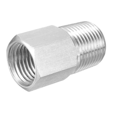 """Pipe to Fitting Adapter, Gauge Adapter, 3/8"""" NPT Male Pipe x M14 NPT Female Pipe"""