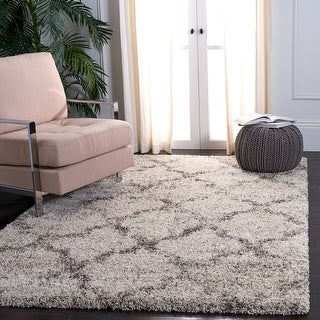 Link to Safavieh Hudson Shag Irmlind Trellis 2-inch Thick Rug Similar Items in Shag Rugs