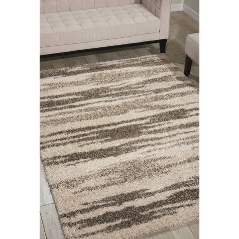 Nourison Amore Abstract Shag Modern Area Rug