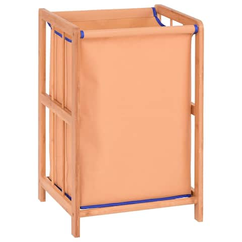 Bamboo Frame Durable Clothes Storage Laundry Hamper - Natural